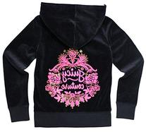Juicy Couture Glitter Floral Embellished Hoodie