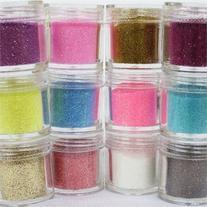 350buy 12 Color Glitter Powder Dust Nail Art Tips Jumbo Size