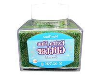 Extra Fine Emerald Green Glitter Stacker Jar, 2 ounces, Non