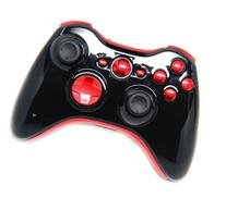 Glossy Black/Red Xbox 360 Rapid Fire Modded Controller 35