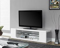 Monarch Specialties High Glossy White TV Console with