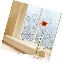 Coavas No-Glue 3D Static Decorative Window Film Privacy