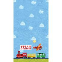 On The Go 54 x 108 Plastic Tablecover All Over Print 12 Ct