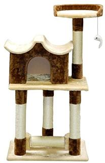 Go Pet Club Beige / Brown 44-inch Cat Tree