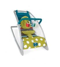 Mamas & Papas Go Go Rocking Cradle, Carousel Lime