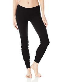 Alo Yoga Women's Goddess Ribbed Legging, Black/Black, Medium