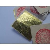 24k Gold Premium 50 Leaf Sheets 4 x 4 cm Geniune Gold Leaf