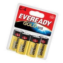 EVEREADY Gold Alkaline Batteries, C, 4/pack