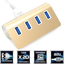 Sabrent Premium 4 Port Gold Aluminum USB 3.0 Hub  for iMac,