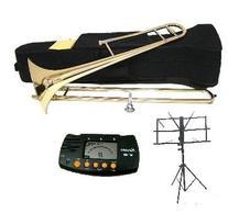 Merano Gold B Flat Tenor Slide Trombone with Zippered