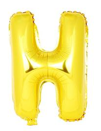 USPRO 42 Inch Gold Letter H Balloon