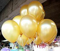 Gold Latex Balloons 12 Inch, 100 Pack