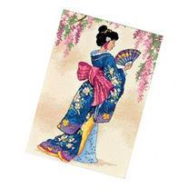Gold Collection Petite Elegant Geisha Counted Cross Stitch K