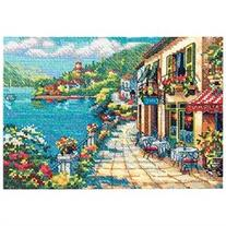 Gold Collection Petite Overlook Cafe Counted Cross Stitch Kt