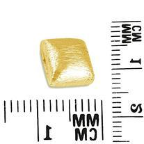 18K Gold Overlay Brushed Bead BG-234 10MM