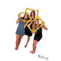"Gold Glitter Picture Frame Cutouts - 3 Piece Set - 16"" X 23"