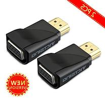 VicTsing 2 PCS HDMI To VGA Video Adapter Converter, Gold-
