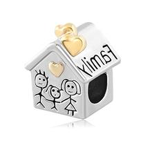 Pugster Gifts Heart Love Family Mom & Baby Girl & Dad Home