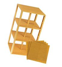 "Premium Gold Colored Stackable Base Plates - 10 Pack 6"" x 6"