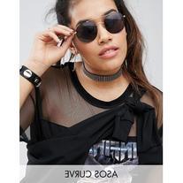 ASOS CURVE Gold Studs Choker Necklace