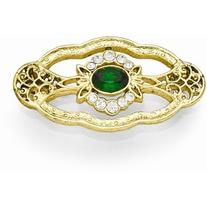 Gold-tone Downton Abbey by 1928 Jewelry Green & Clear