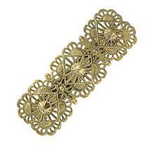 1928 Jewelry Gold-Tone Filigree Hair Barrette