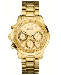 GUESS Women's Gold-Tone Stainless Steel Bracelet Watch 42mm