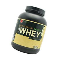 Gold Standard 100% Natural Whey Protein, Strawberry, 5 lbs,