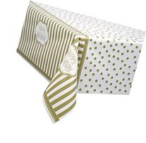 "Golden Birthday Plastic Tablecloth, 84"" x 54"