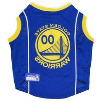 Golden State Warriors Dog Basketball Mesh Jersey, Small