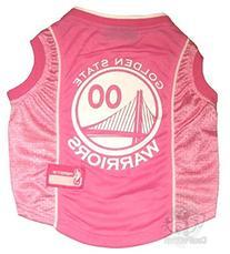 NBA Golden State Warriors Basketball Pink Pet Jersey, Medium