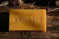 Pure Golden Tan Beeswax 1lb BLOCK of wax - stamped BEESWAX