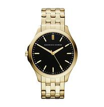 AX Armani Exchange Goldtone Watch with Black Dial