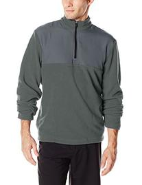 PGA TOUR Men's Golf 1/4 Zip Long Sleeve Fleece Jacket, Iron