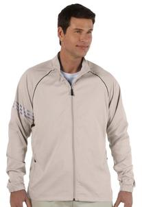 adidas Golf Mens ClimaProof 3-Stripes Full-Zip Jacket - ECRU