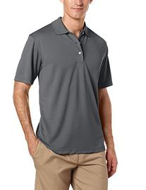 PGA TOUR Men's Short Sleeve Airflux Solid Polo, Asphalt,