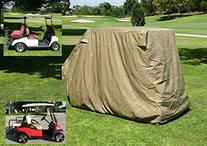 Golf Cart Storage Cover for EZGo, Club car 4 Seater with 2
