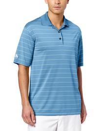 adidas Golf Men's Climalite Two-Color Stripe Polo Shirt,