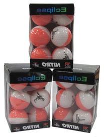 Nitro Golf Eclipse Golf Balls , Coral/White