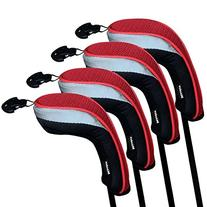Andux Golf Hybrid Club Head Covers Set Of 4 Interchangeable