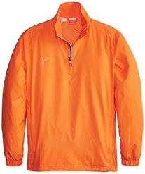Puma Golf NA Boy's Junior 1/2 Zip Wind Jacket, Vibrant