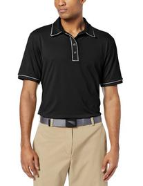 adidas Golf Men's Puremotion Piped Polo, Black/White, X-