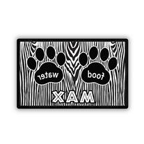Personal Creations Gone Wild Zebra Print Pet Placemat