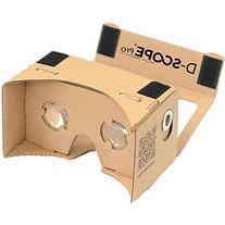 D-scope Pro Google Cardboard Kit with Straps 3D Virtual