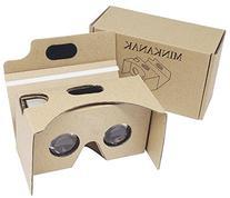 Google Cardboard Kit V2 by MINKANAK Bigger Lens 3D Virtual