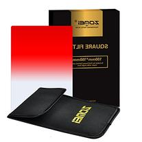 Zomei Gradual Red Square Z-PRO Series Filter for Cokin Z