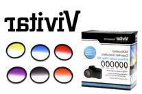 Vivitar 49mm Graduated Color Multicoated Filter Set
