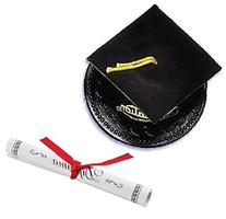 Oasis Supply Graduation Cap Cake Topper with Diploma, Black