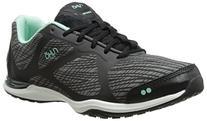 RYKA Women's Grafik Cross-Training Shoe, Black/Grey/Mint, 8.