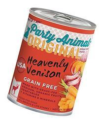 Party Animal Grain Free Can Dog Venison 13 oz Case 12